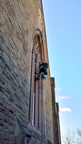 Historic and heritage building rope access for facade repairs and window cleaning