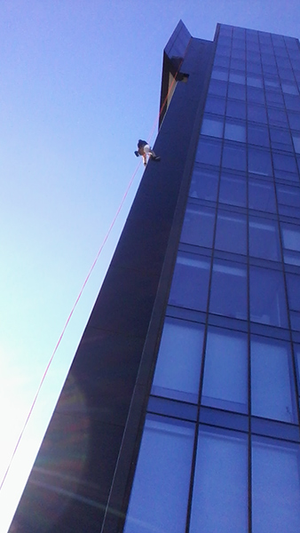 Rope Access Specialists - no building too difficult, no window inaccessible